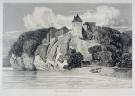Castle at Tancarville, from the series 'Architectural Antiquities of Normandy'