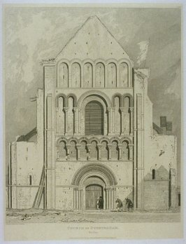 Church of Oyestreham, from the series 'Architectural Antiquities of Normandy'