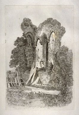 Beeston Abbey, Norfolk, first plate in the second group in the portfolio Etchings by John Sell Cotman (London: published for the author by Messrs. Boydell & Co.…, 1811)