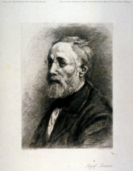 Jozef Israels, after his self-portrait drawing