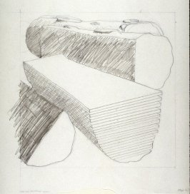 Drawing for Untitled (Cut logs) (Unpublished)