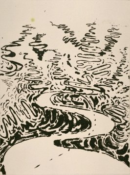 Working proof 1 for Untitled (Meandering River VI) (unpublished)