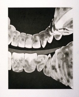 Working proof 1 for unpublished, Untitled (Large Teeth)