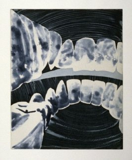 Working proof 3 for unpublished, Untitled (Large Teeth)