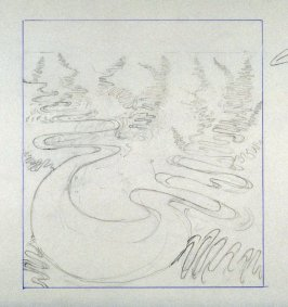 Drawing for Meandering River II