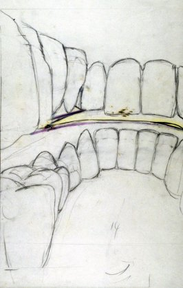 Drawing for Untitled (Large Teeth)