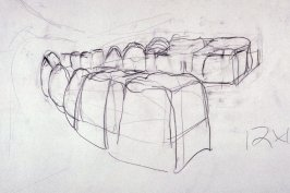 Drawing 2 for Untitled (Medium Teeth) (Unpublished)