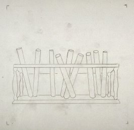 Drawing for Untitled (Test Tubes) (unpublished)