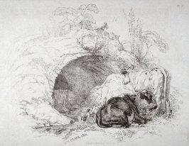 Plate 10 from - Landscape Animals in a Series of Perspective Studies