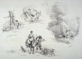 Plate 13 from - Landscape Animals in a Series of Perspective Studies
