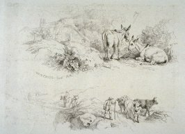 Plate 17 from - Landscape Animals in a Series of Perspective Studies