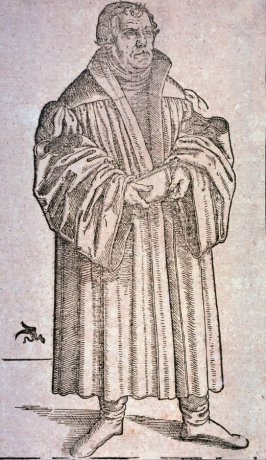 Martin Luther, full-length to the right
