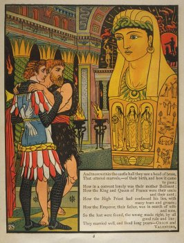 Seventh illustration, on page 8, of Orson and Valentine in the book The Marquis of Carabas' Picture Book by Walter Crane/printed in colours by Edmund Evans (London: George Routledge and Sons, n.d. [ca. 1875])