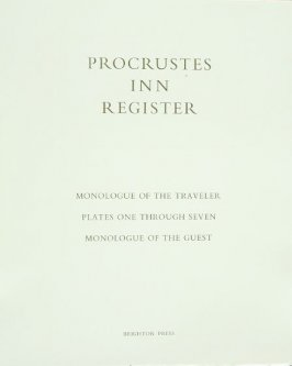 Illustration 1 in the book Procustes Inn Register: Monologue of the Traveller, Monologue of the Guest