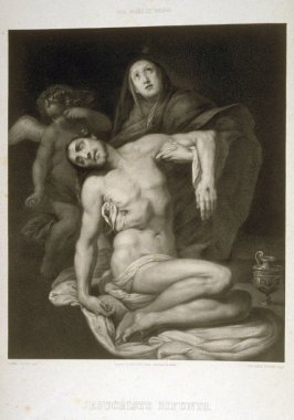 Jesucristo Difunto En Brazos De Su Sanit Mary...(Christ dead in the arms of his mother)... second plate in the book...El Real Museo de Madrid y las joyas de la pintura en Espana ([Madrid]: Juan José Martinez, [1857])