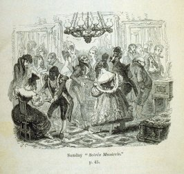 "Sunday ""Soirée Musicale"", opposite page 45 and fourteenth illustration in the book Sunday in London (London: Effingham Wilson, 1833)"
