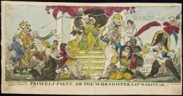 Princely Piety or the Worshippers at Wanstead, plate from 'The Scourge'.