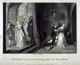 Anne Boleyn receiving proof of Henry's passion for Jane Seymour.