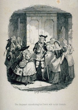 The Serjeant introducing his Dutch wife to his friends