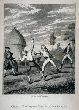 The Fatal Duel between Lord Randy and Sir' Toby.