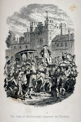 The Duke of Marlborough's departure for Flanders