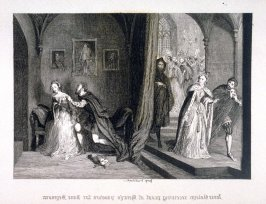 Anne Boleyn receiving proof of Henry's passion for Jane Seymour