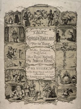 Frontispiece to O.B. Dussek's 'Fairy Songs & Ballads For the Young' (1849)
