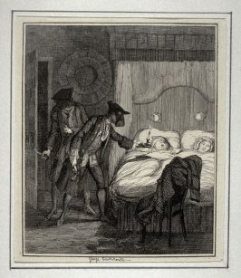 Jack Sheppard and Blueskin in Mr. Woods bed room