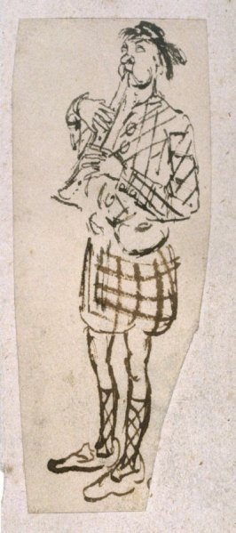 Untitled [Man playing bagpipe]