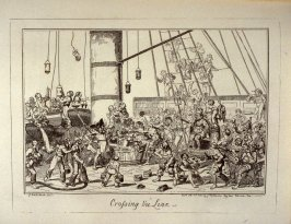 Crossing the Line, opposite page 176 in the book Greenwich Hospital , A Series of Naval Sketches Descriptive of the Life of a Man-of-War's Man by an Old Sailor (London: James Robins and Co., 1826 & Dublin: Joseph Robins, Jun. and Co., 1826)
