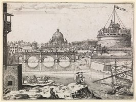 St. Peter's and the Castel Sant'Angelo from the Tiber River