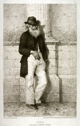 Croce, Decrotteur et Modele a Naples (Croce, Bootblack and Model in Naples),pl. 77 from L'Illustration Nouvelle, Deuxieme Annee: 1869