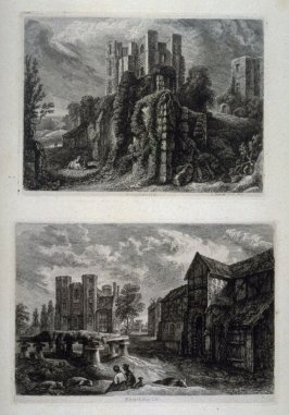 Two prints from: Wanderings and Pencillings amongst Ruins of the Olden Times: A Series of Seventy-three Etchings by George Cuitt, Esq. (London, 1855)