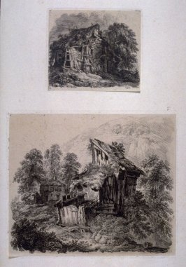 Two from: Wanderings and Pencillings amongst Ruins of the Olden Times: A Series of Seventy-three Etchings by George Cuitt, Esq. London, 1855