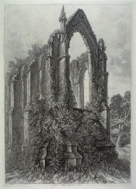 Bolton Abbey East End, from: Wanderings and Pencillings amongst Ruins of the Olden Times: A Series of Seventy-three Etchings by George Cuitt, Esq. (London, 1855)