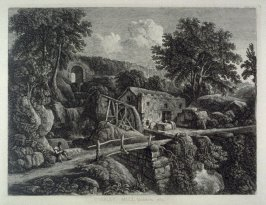 Wensley Mill, Yorkshire. 1827, from: Wanderings and Pencillings amongst Ruins of the Olden Times: A Series of Seventy-three Etchings by George Cuitt, Esq. (London, 1855)