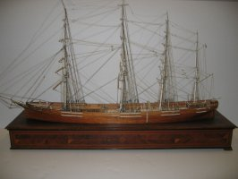 Ship model: The Emma (formerly The Vanderbilt, and The Three Brothers) with stand