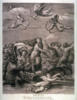 The Triumph of Galatea, after the fresco in the Villa Farnesina, Rome, from the book Schola Italica Picturae