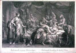 Andromache Bewailing the Death of Hector, after the painting by Gavin Hamilton
