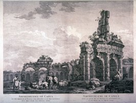 The Amphitheatre of Capua, pl. 5 from the series Views of Antique Buildings and Famous Ruins in Italy, after C. Clérisseau