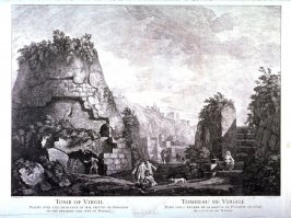 Tomb of Virgil, pl. 11 from the series Views of Antique Buildings and Famous Ruins in Italy, after C. Clérisseau