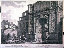 Arch of Trajan, pl. 2 from the series Views of Antique Buildings and Famous Ruins in Italy, after C. Clérisseau
