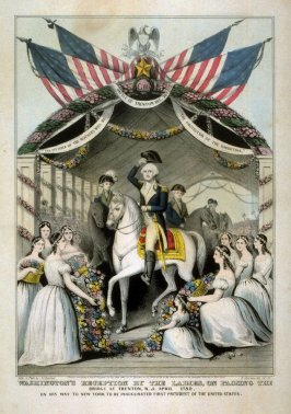 Washington's Reception by the Ladies on Passing the Bridge at Trenton, N.J.