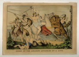 Queen of the Amazons Attacked by a Lion