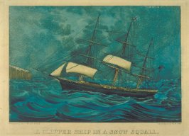 A Clipper Ship in a Snow Squall