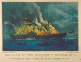 Burning of the Steamship Golden Gate. July 27th 1862