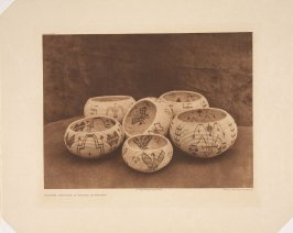"""Plate 542, Modern Designs in Washo Basketry, from """"The North American Indian"""""""