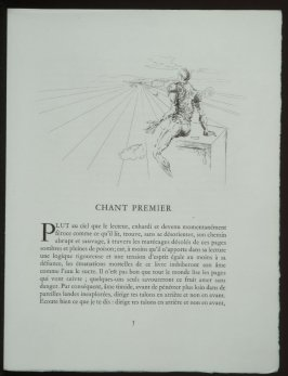 Untitled, headpiece pg. 5, in the book Les Chants de maldoror by Comte de Lautréamont (Paris: Albert Skira, 1934).