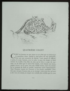 Untitled, headpiece pg. 113, in the book Les Chants de maldoror by Comte de Lautréamont (Paris: Albert Skira, 1934).