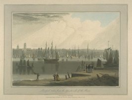 Liverpool, taken from the opposite side of the River, from Richard Ayton's 'A Voyage Round Great Britain' (London, 1814-1825)